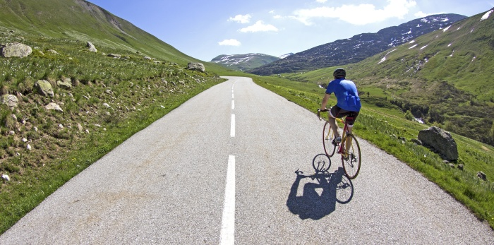 Cycling in french Alps. France.